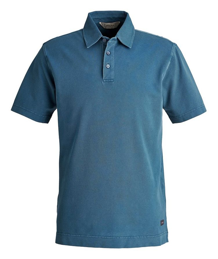 Stretch Cotton Piqué Polo image 0