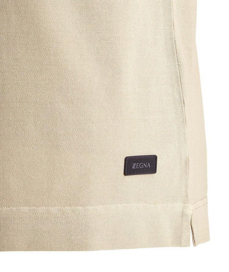 Stretch Cotton Piqué Polo image 1
