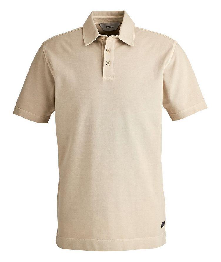 Stretch Cotton Piqué Polo image 0