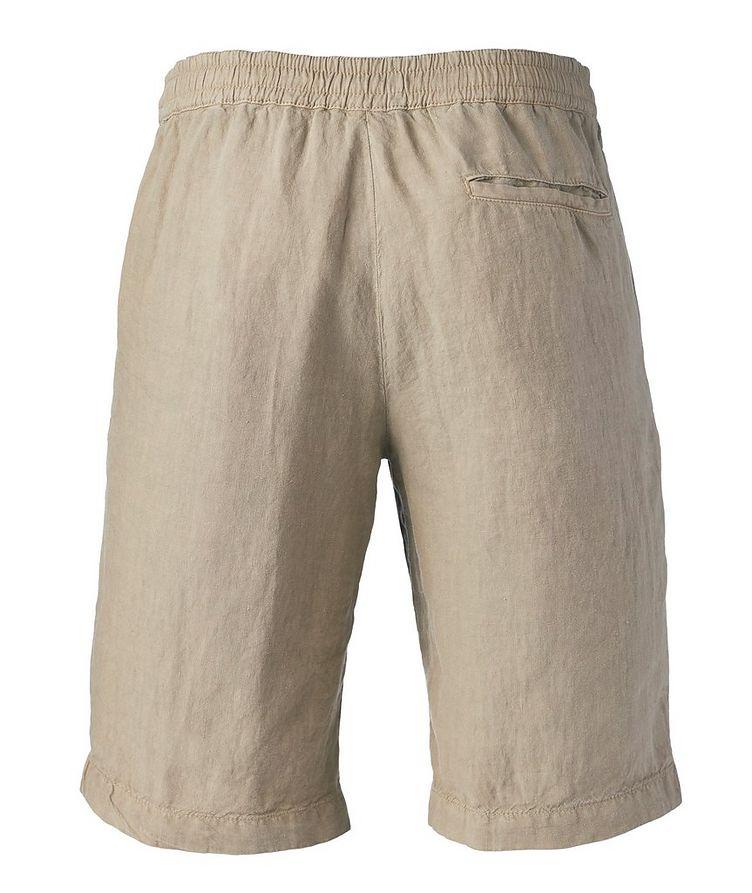 Linen Drawstring Bermuda Shorts image 1