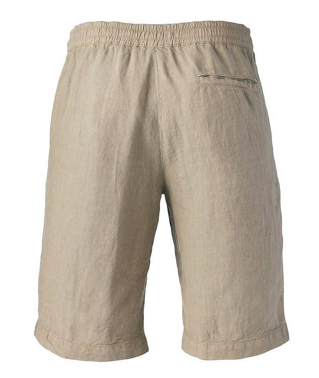 Linen Drawstring Bermuda Shorts picture 2