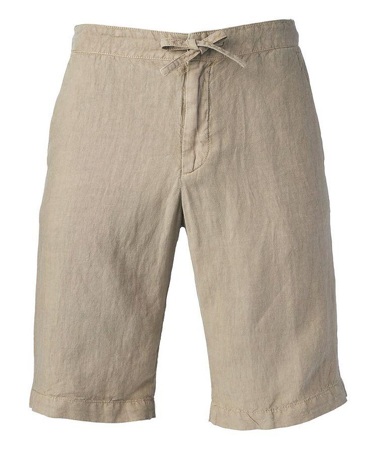 Linen Drawstring Bermuda Shorts image 0