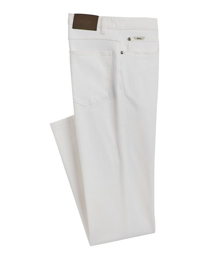 Straight-Fit Stretch-Cotton Jeans image 0