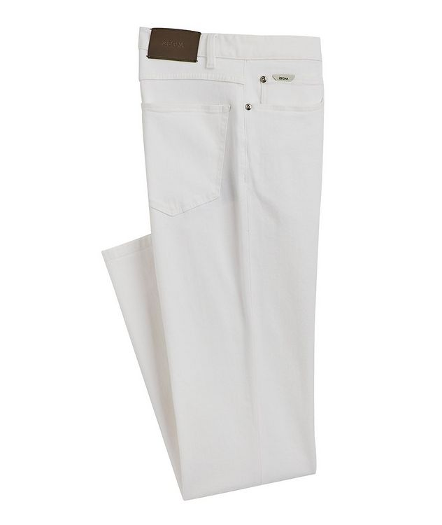 Straight-Fit Stretch-Cotton Jeans picture 1