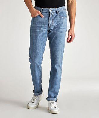Z Zegna Slim-Fit Stretch-Cotton Jeans