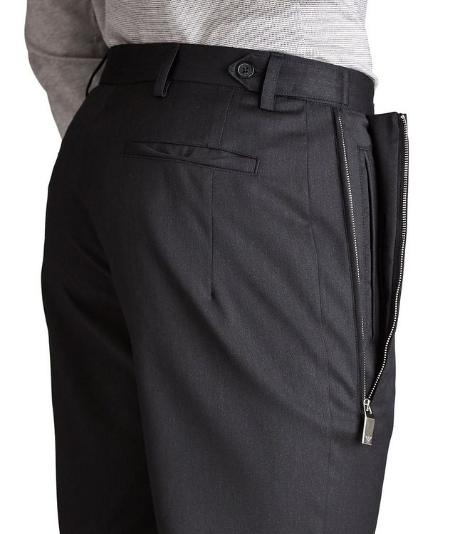 Zippered Virgin Wool Dress Pants picture 3