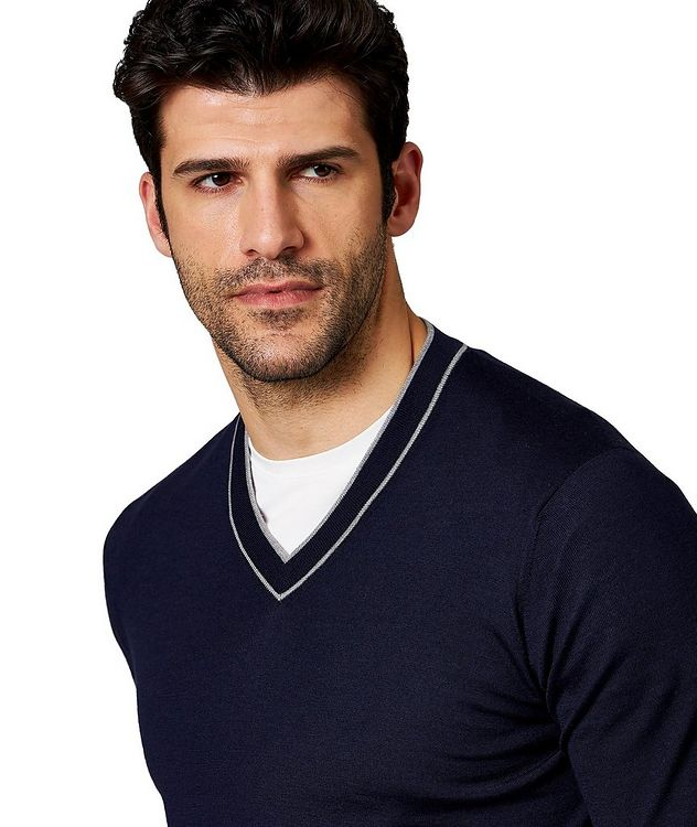 V-Neck Wool-Cashmere Sweater picture 2