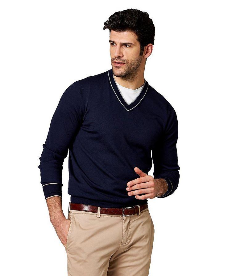 V-Neck Wool-Cashmere Sweater image 0