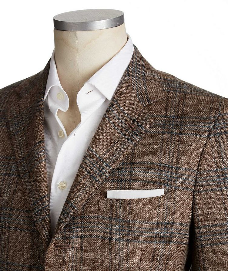 Contemporary Fit Cashmere, Wool, Silk & Flax Sports Jacket image 1