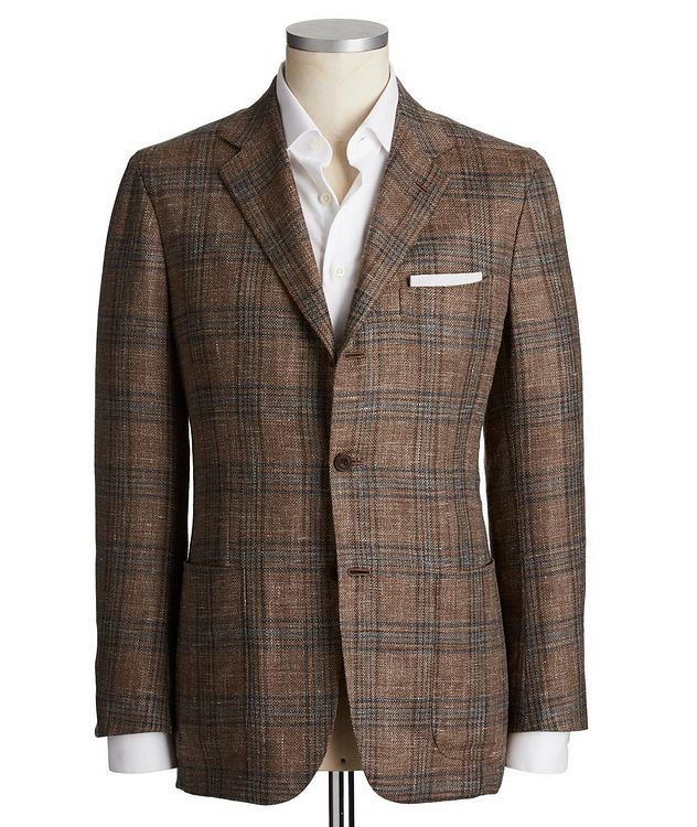 Contemporary Fit Cashmere, Wool, Silk & Flax Sports Jacket picture 1