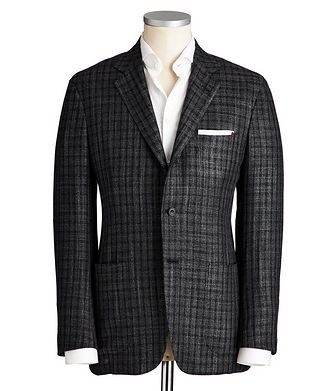 Kiton Contemporary Fit Cashmere, Silk & Wool Sports Jacket