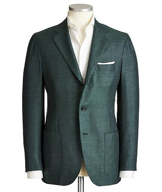 Kiton Contemporary Fit Cashmere, Silk & Linen Sports Jacket