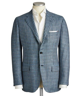Kiton Contemporary Fit Cashmere, Wool & Silk Sports Jacket