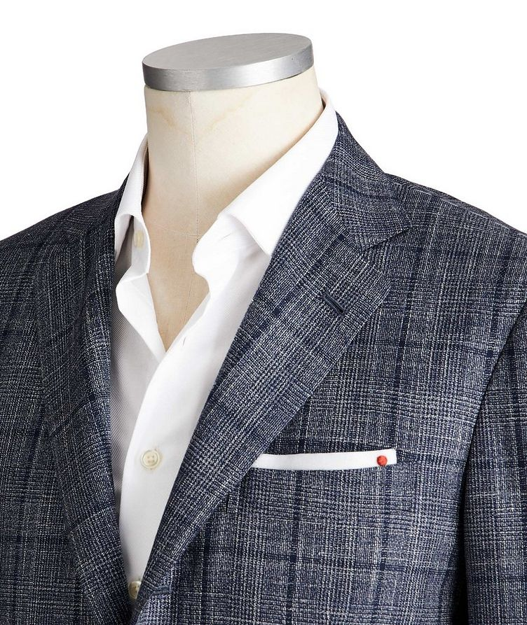 Contemporary Fit Cashmere, Wool, Silk & Linen Sports Jacket image 1