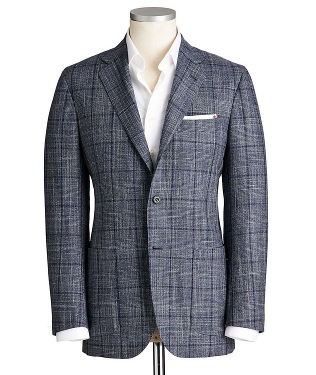 Contemporary Fit Cashmere, Wool, Silk & Linen Sports Jacket picture 1