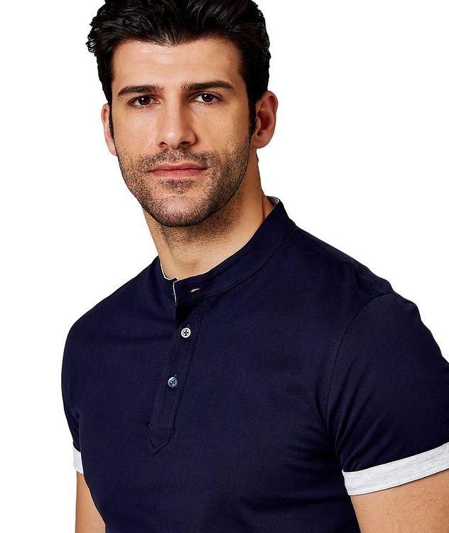 Short-Sleeve Cotton Henley picture 2