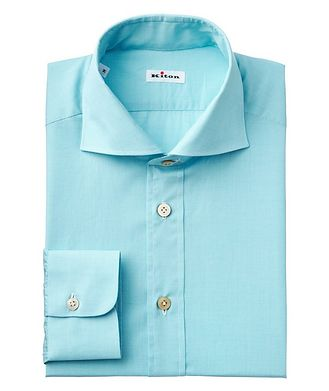 Kiton Houndstooth-Printed Cotton Shirt