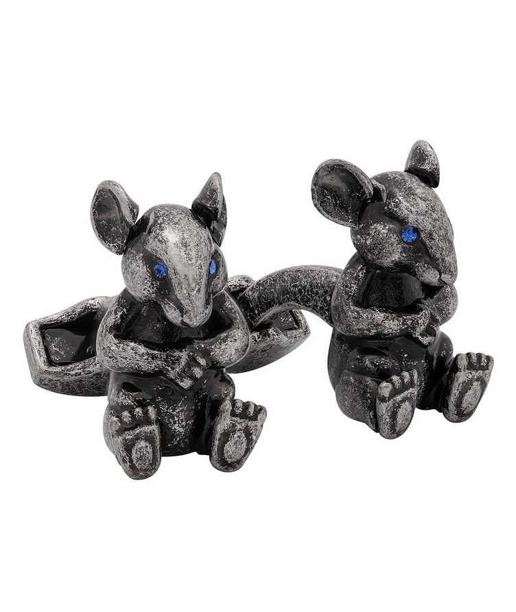 Swarovski Crystal Rat Cufflinks image 0