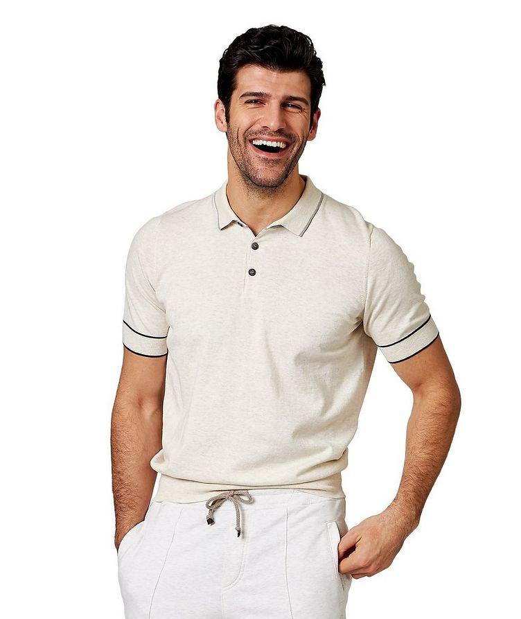 Polo en coton tissé image 0