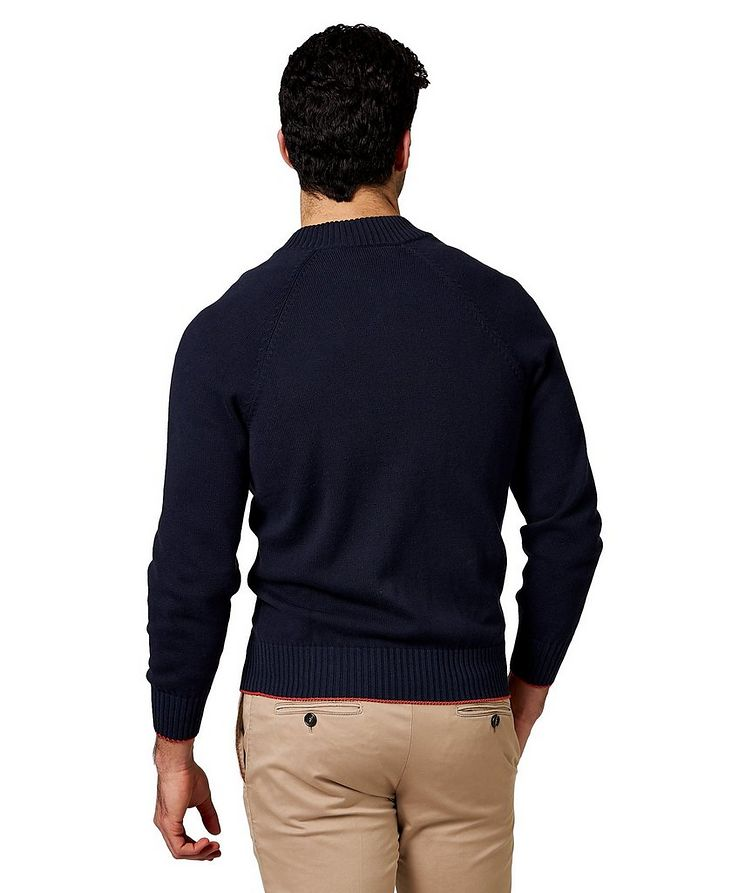 Zip-Up Cotton Cardigan image 1