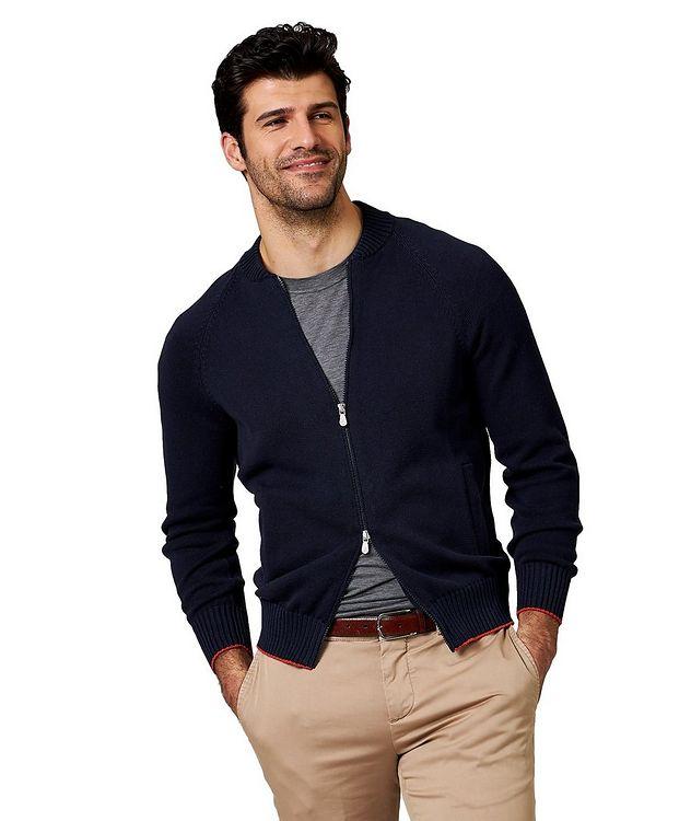 Zip-Up Cotton Cardigan picture 1