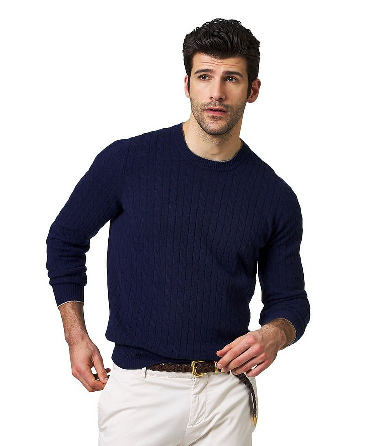 Cashmere Cable Knit Sweater image 0