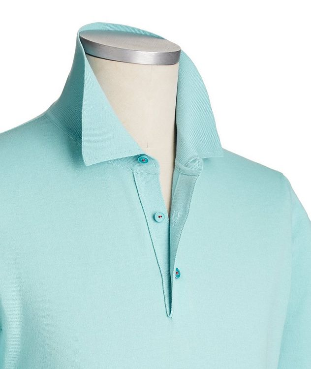 Icon Long-Sleeve Cotton Polo picture 2