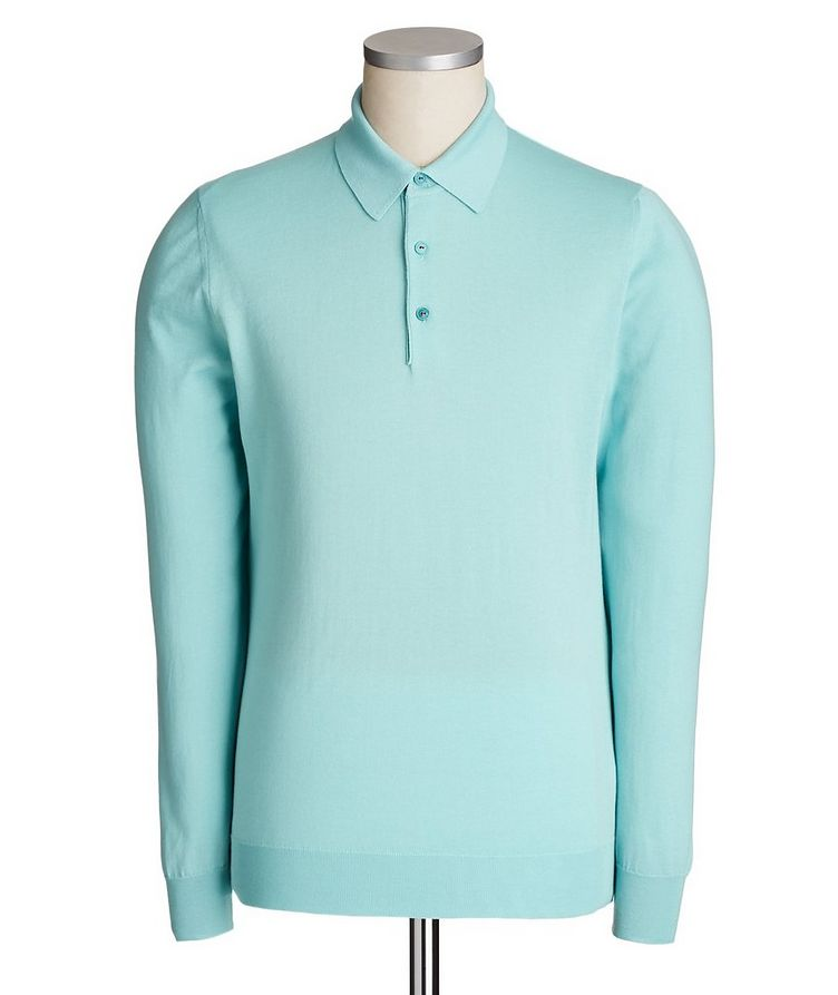 Icon Long-Sleeve Cotton Polo image 0