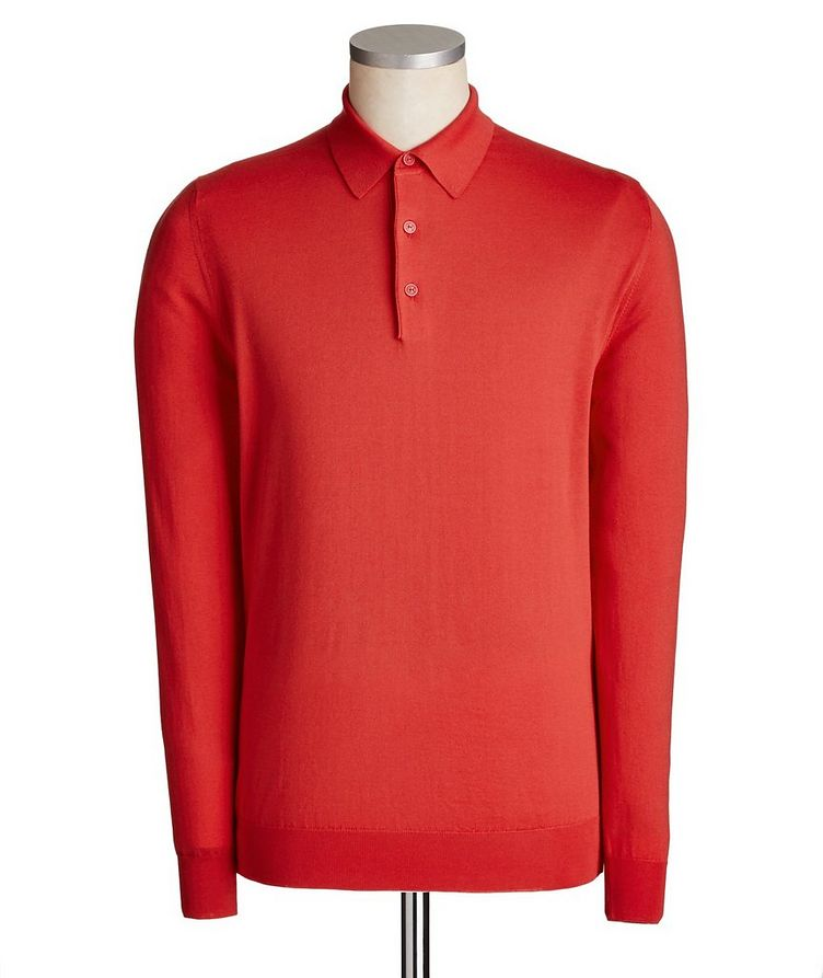 Icon Long-Sleeve Cotton Polo image 0