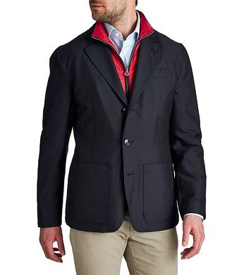 Kiton Down-Filled Cashmere Blend Sports Coat