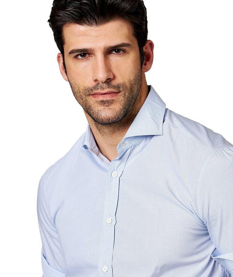 Micro-Checked Cotton Shirt image 1