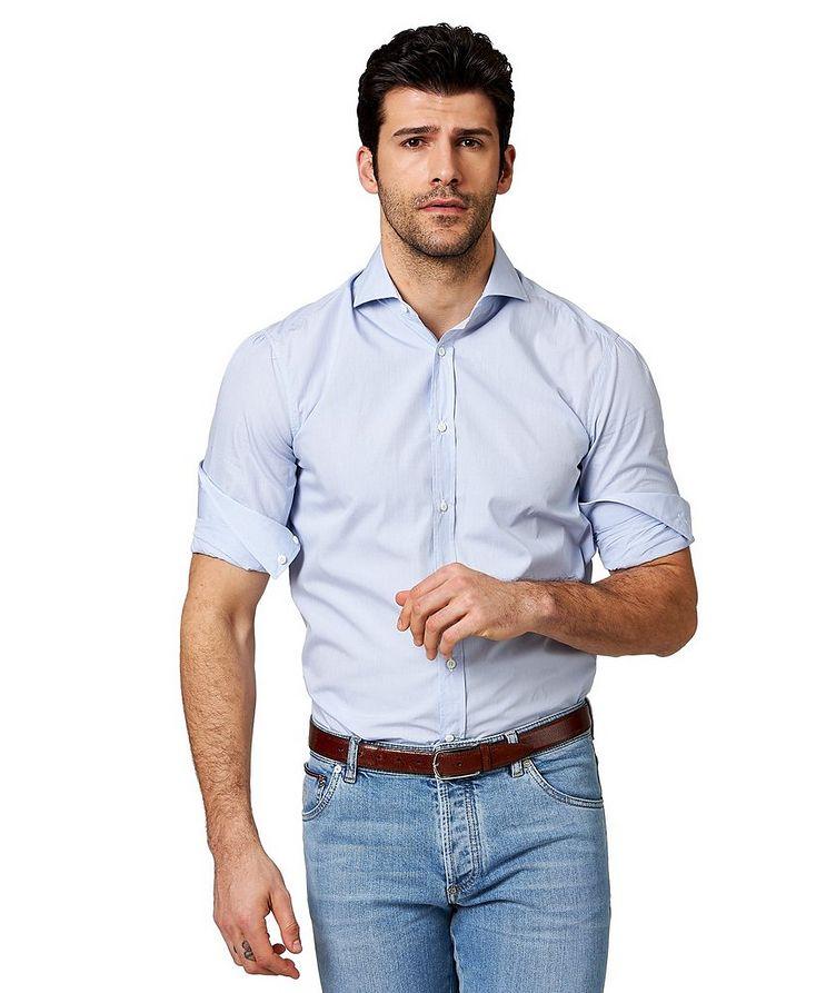 Micro-Checked Cotton Shirt image 0