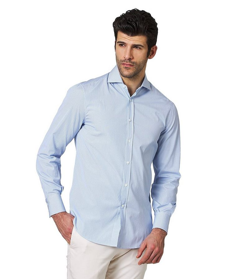 Contemporary Fit Striped Cotton Shirt image 0