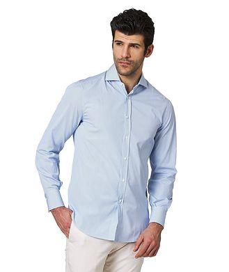 Brunello Cucinelli Contemporary Fit Striped Cotton Shirt