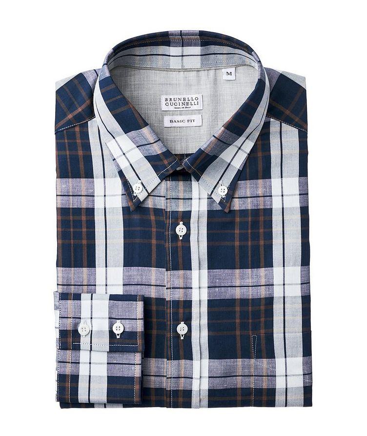 Plaid Cotton-Linen Shirt image 0