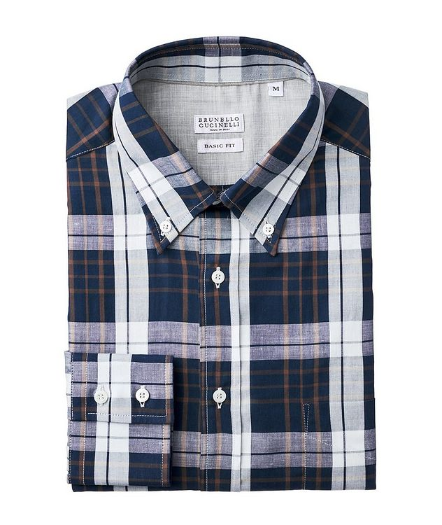 Plaid Cotton-Linen Shirt picture 1