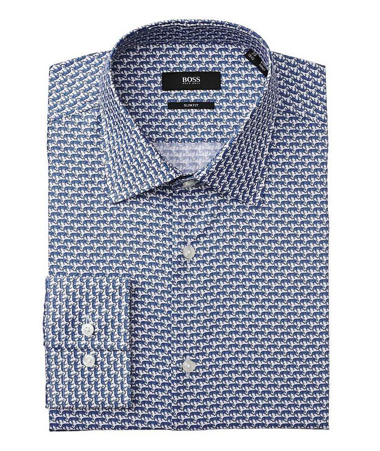 Chemise habillée imprimée de coupe amincie image 0