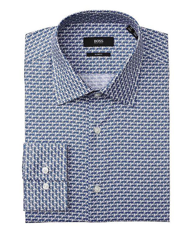 Chemise habillée imprimée de coupe amincie picture 1