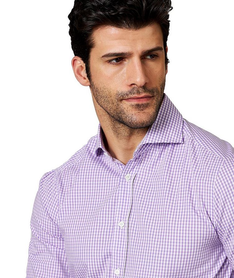Gingham-Checked Cotton Shirt image 1