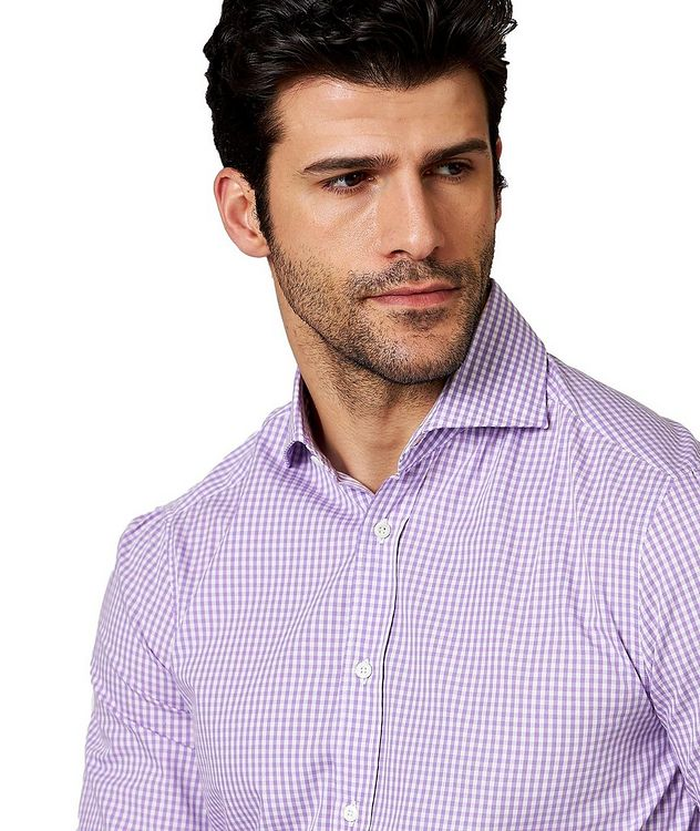 Gingham-Checked Cotton Shirt picture 2