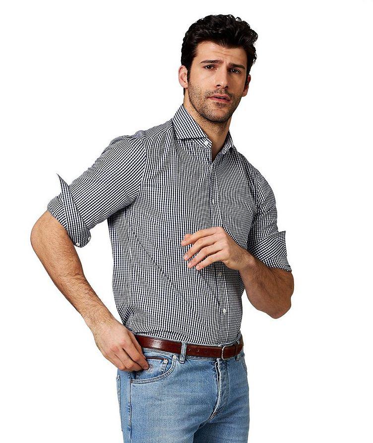 Chemise en coton à carreaux vichy image 0