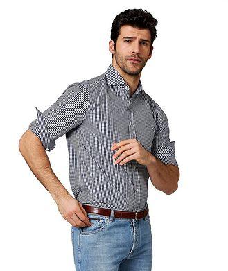 Brunello Cucinelli Gingham-Checked Cotton Shirt