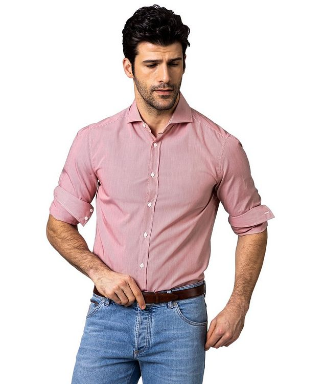 Contemporary Fit Striped Cotton Shirt picture 1