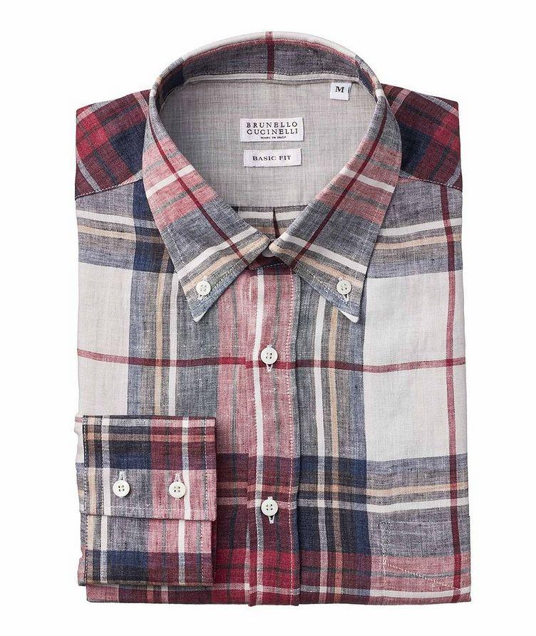 Plaid Linen Shirt image 0