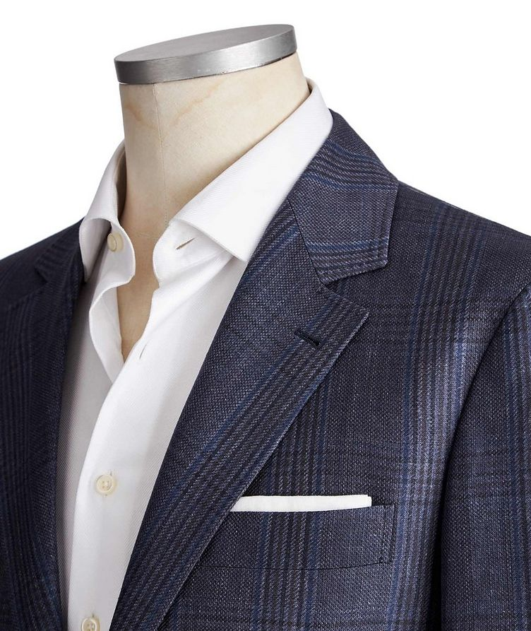Checked Linen, Wool & Silk Sports Jacket image 1