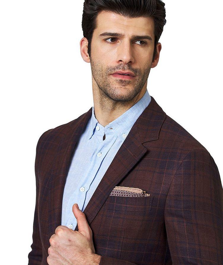 Plaid Linen, Wool & Silk Sports Jacket image 1