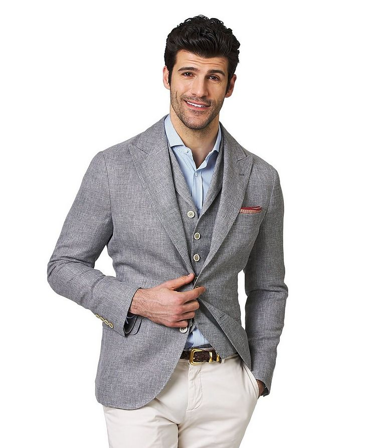 Veston en lin, laine et soie image 0