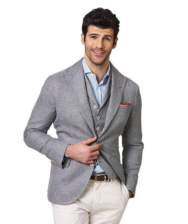 Veston en lin, laine et soie picture 1