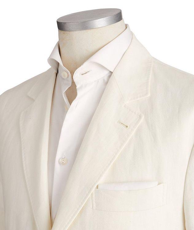 Unstructured Chevron Linen Sports Jacket picture 2
