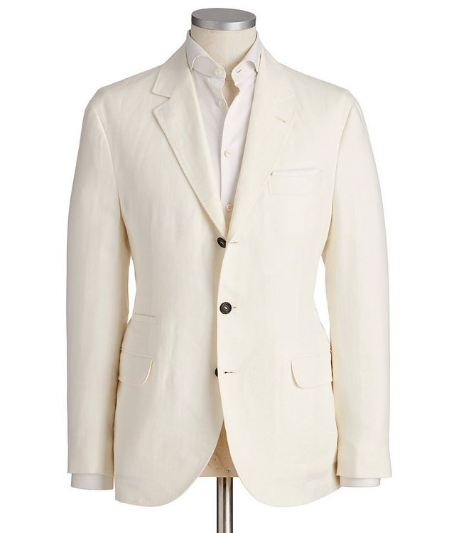 Unstructured Chevron Linen Sports Jacket picture 1